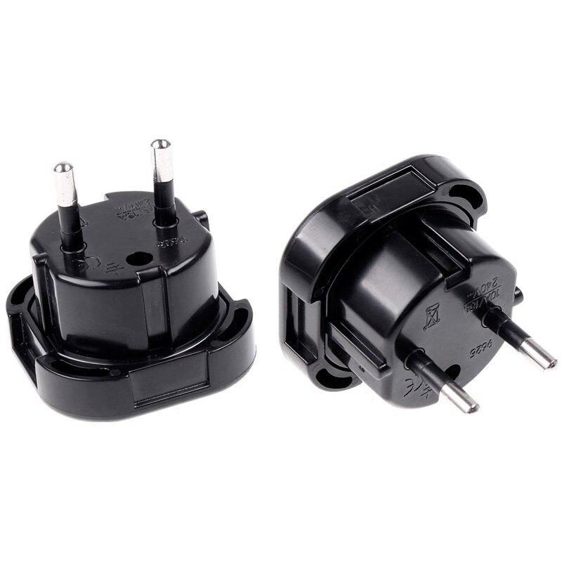 Universal Travel Adapter UK to EU Euro Plug AC Power Charger Adapter Converter Socket Black Free shipping UM