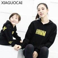 XiaGuoCai 2017 Familie Bijpassende Outfits Moeder En Jongens Meisjes hoodies Sweatshirt Dikker kasjmier familie kid kleding jas A31 27