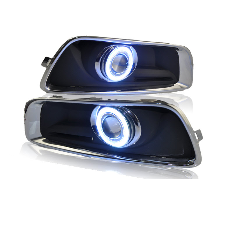 For Chevrolet Malibu 2013-2016 White Angel Eyes DRL Yellow Signal Light H11 Halogen / Xenon E13 Fog Lights Projector Lens
