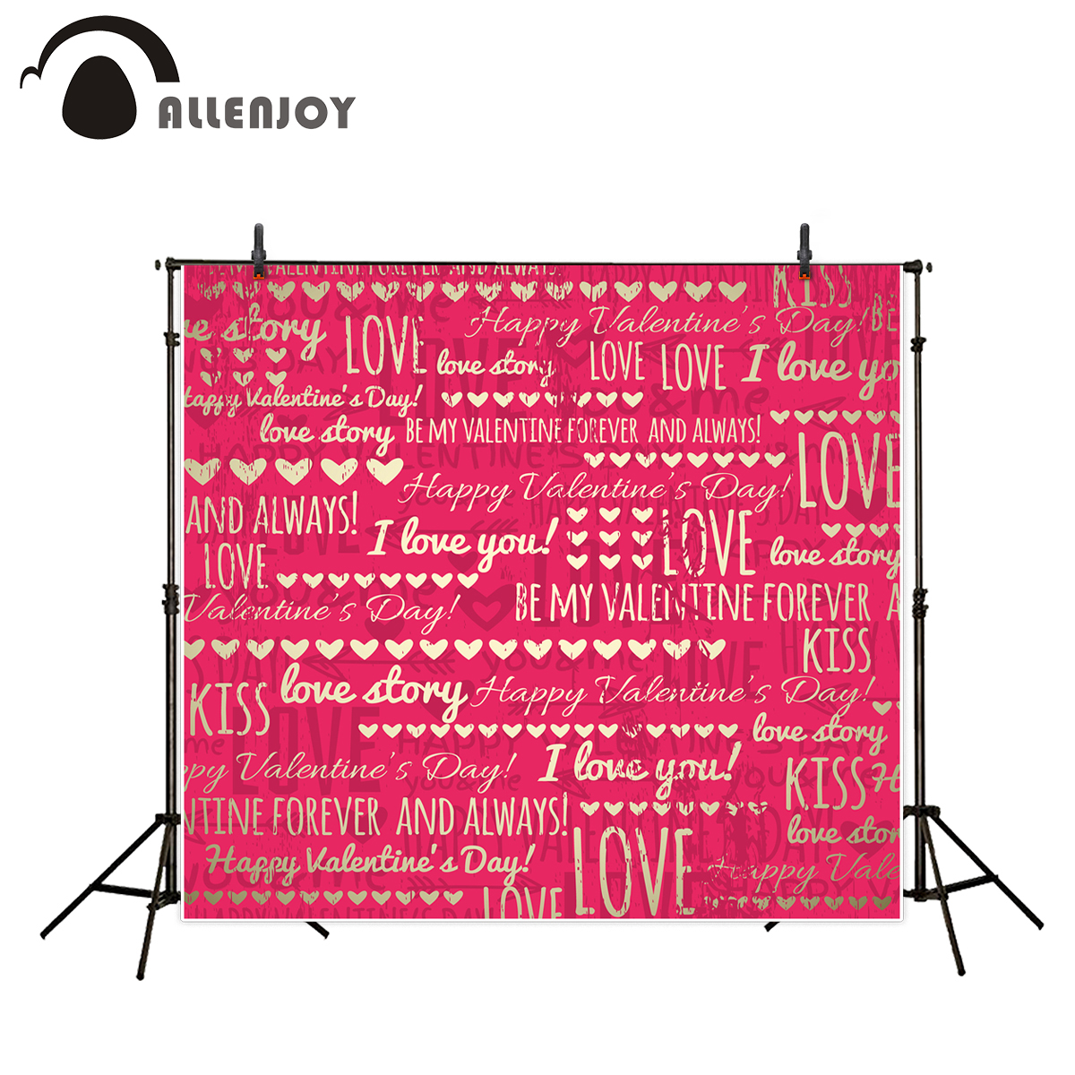 Allenjoy photography background red pink gold love hearts romantic backdrop photocall for wedding for photo studio vinyl cloth allenjoy photography backdrops love pink romantic background photography wedding backdrop for valentine s day
