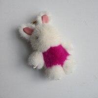 Genuine mink Fur Keychain fashion Fur bunny keychain bag Pendant gift car pendant car accessories key rings