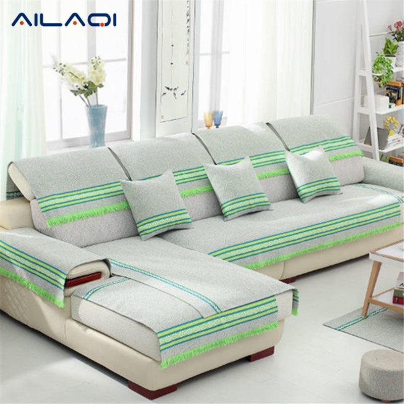Astonishing Ailaqi Winter Striped Multicolored Fabrics Cotton Sofa Ncnpc Chair Design For Home Ncnpcorg