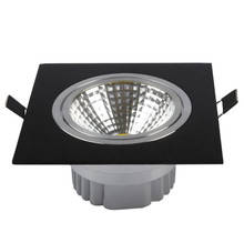 Factory wholesale price 9W/12W dimmable led recessed square COB down lamp  indoor up ceiling lights AC85-265V