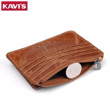 KAVIS Genuine Leather Men Money Clips Fashion Pocket Clamp For Money Holder Brand Design Wallet With