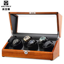 Wholesale luxury custom mabuchi motor watch winder exquisite automatic wooden rotating display box(China)