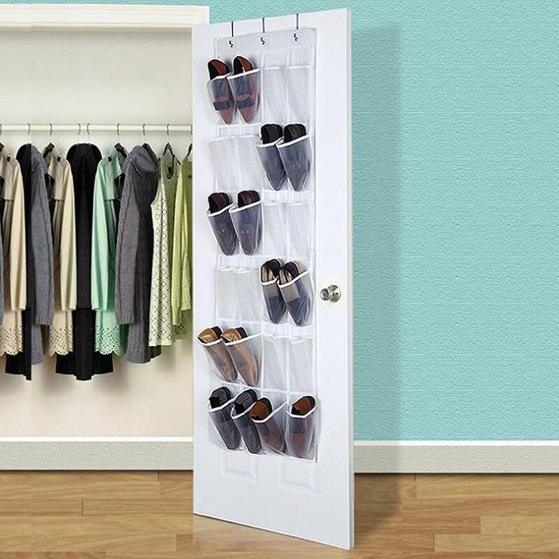 Door Hanging Shoe Rack.Us 6 3 30 Off 24 Pocket Clear Hanging Shoe Organizer Bathroom Holder Storage Base Living Room Shoe Rack Hanger Sorting Pvc Door Hanging Bag In