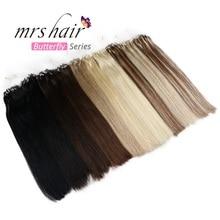 """MRSHAIR, прямые волосы на микро кольцах, 1""""-24"""", 1 г/шт., 50 шт., натуральные волосы Remy для наращивания"""