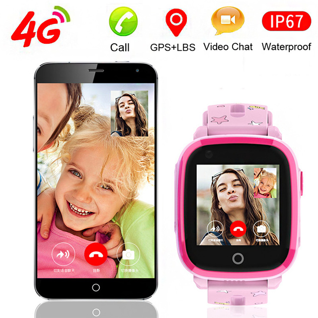 4G GPS+LBS+Wifi Location Tracker Swiming Call SOS Remote Monitoring Video Chat Camera Phone Smart Watch Smartwatch Kids Child