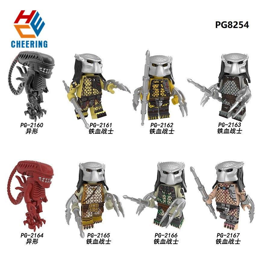 Single Sale Super Heroes Building Blocks Bricks Skeleton Skull Alien One-Eyed Strange Creature Figures For Children Toys PG8254