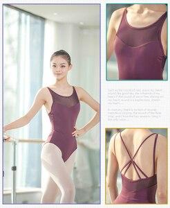 Image 4 - Justaucorps au dos pour femmes, vêtements de danse pour adultes, ensemble Sexy de gymnastique au dos, nouveauté 2020
