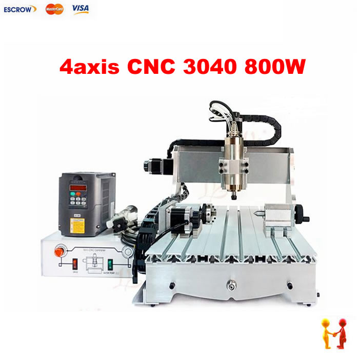 Water cooled spinder 3040 CNC router 800w 4030 engraving drilling milling machine free tax desktop cnc wood router 3040 engraving drilling and milling machine