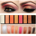 Rose Gold Eyes Makeup Warm Palette 8 Colors Shimmer Eye Shadow Palette Cosmetic Set LML035