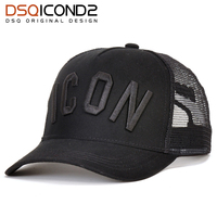 DSQICOND2 de algodón de verano gorra de béisbol para hombres y mujeres  bordado icono negro sombrero 787d0464808