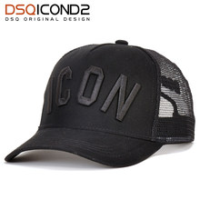 DSQICOND2 Cotton Summer Baseball Cap for Men Women Embroidery ICON Black Dad Hat Hip Hop DSQ Trucker Cap Hombre Gorras Casquette(China)