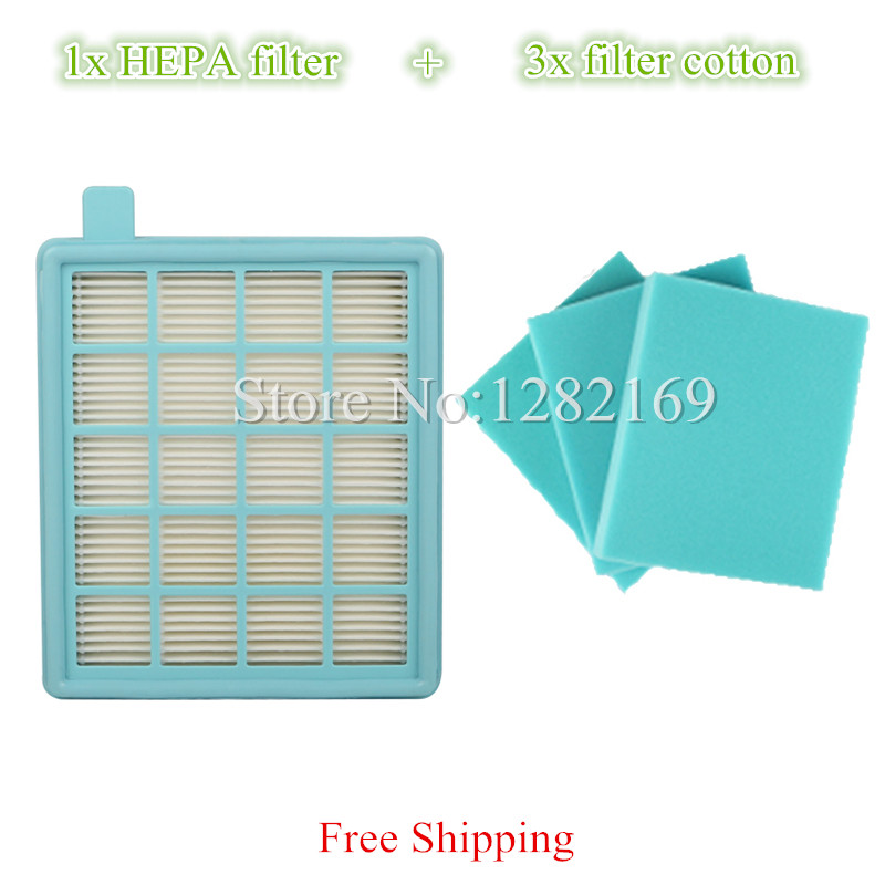 1x Vacuum Cleaner HEPA Filter and 3x Filter Cotton replacement For Philips FC8477 FC8470 FC8471 FC8472 FC8473 FC8474 FC8476 replacement filter for philips vacuum cleaner hepa filter fc8471 fc8630 fc9322