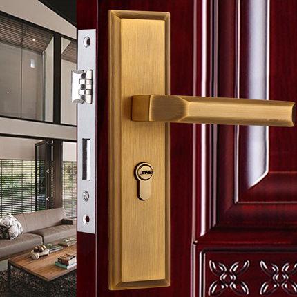 Antique Bronze European Room Door Lock Or Toilet Handle Lock chinese antique bronze craft door handle luxurious door handle european modern glass doors of the big door handles