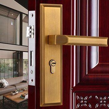 Antique Bronze European Room Door Lock Or Toilet Handle Lock