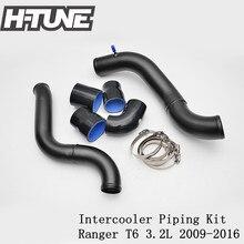 H-TUNE Окисляется Алюминиевый Turbo Интеркулера Комплекты для Ranger PX BT60 3.2L 2009-2016