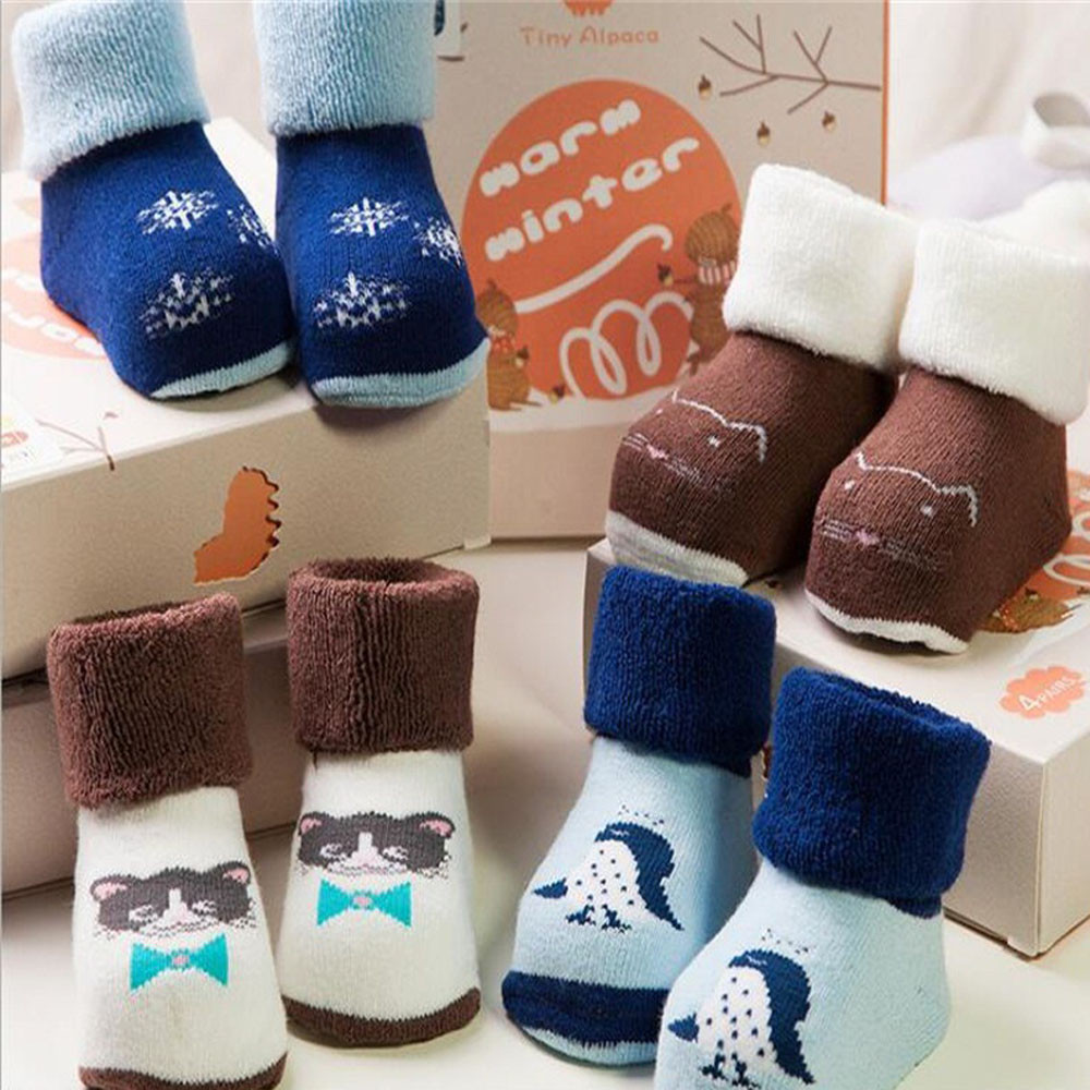 2018 4 Pairs comfort Toddlers Kids Girls Cute Pattern Socks Cotton Floor Socks lovely compression socks