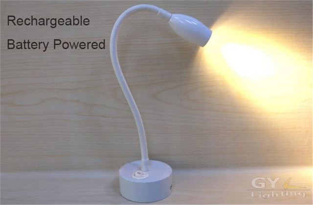 Led Leeslamp Slaapkamer : Nieuwe lithium batterij aangedreven wit led slang wandlampen