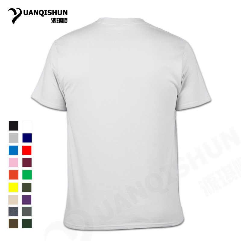YUANQISHUN بوتيك تي شيرت الأحرف الصينية مرحبا شكرا لك لا فهم قميص مطبوع أجنبي الشارع مضحك الرجال تيز