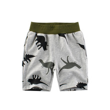 New Fashion Kids Cartoon Dinosaur Print Pants Boys and Girls Elastic Belt Casual Cotton Pants Summer Clothes Ropa Bebe Dress