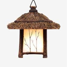 Pastoral style pendant lights lamp bamboo e27 Chinese/Japanese style retro lantern hanging lamp for bar tea room, restaurant(China)