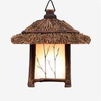 Pastoral style pendant lights lamp bamboo e27 Chinese/Japanese style retro lantern hanging lamp for bar tea room, restaurant