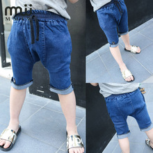 MMIW Torn Jeans For Teens Boys Jeans Casual 2017 Denim Shorts Trousers Kids Dark Blue Designed Pants For a Boy Children's Jeans