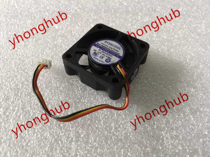 Emacro For EVERCOOL EC3010L12EA DC 12V 0.06A 3-wire 30x30x10mm Server Square Fan