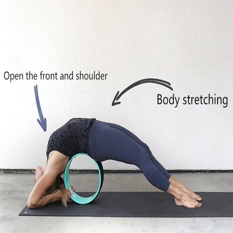 Yoga Wheel Muscle Massage Balance Relaxation Fitness Bending Artifact Relaxation Yoga Assisted Wheel Yoga Circle Fitness Tool цена