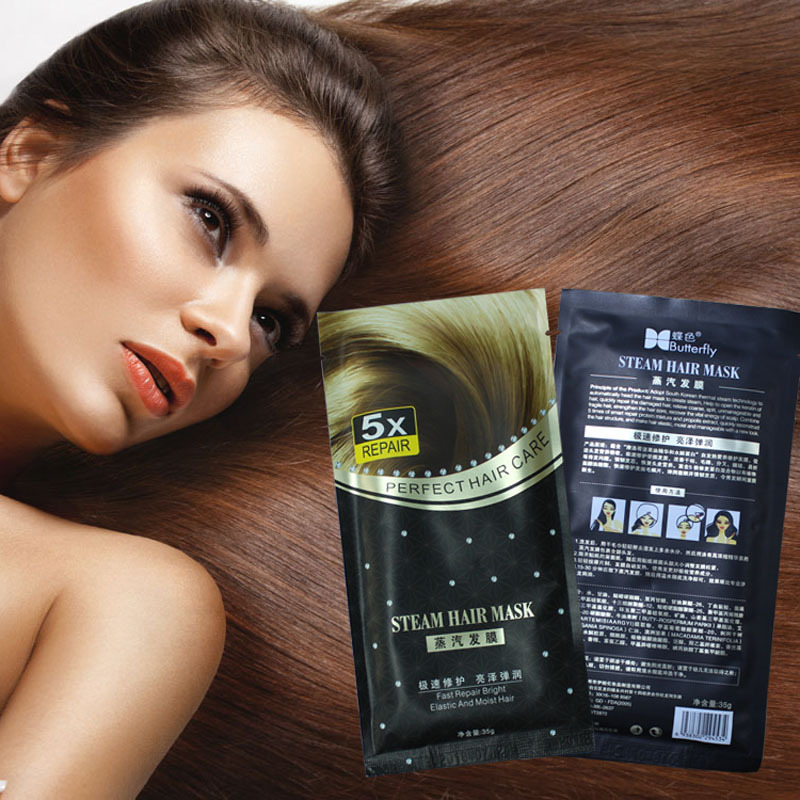 Free Shipping Automatic Heating Steam Hair Mask Keratin Argan Oil Treatment Hair Coarse, Dry, Split Ends