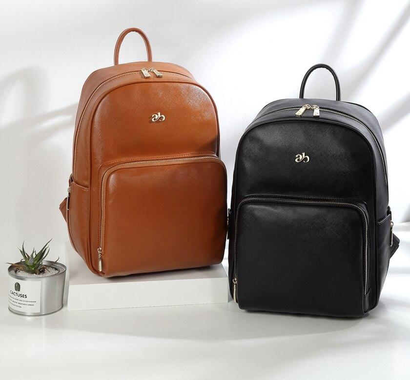 Neue Unisex Mode Qualität PU Leder Baby Windel Tasche Rucksack + Ändern Pad + Kinderwagen Riemen -- AB1681