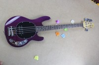Wholesale High Quality 4 Strings Ray purple Music Man Bass Electric guitar Free Shipping 6 21