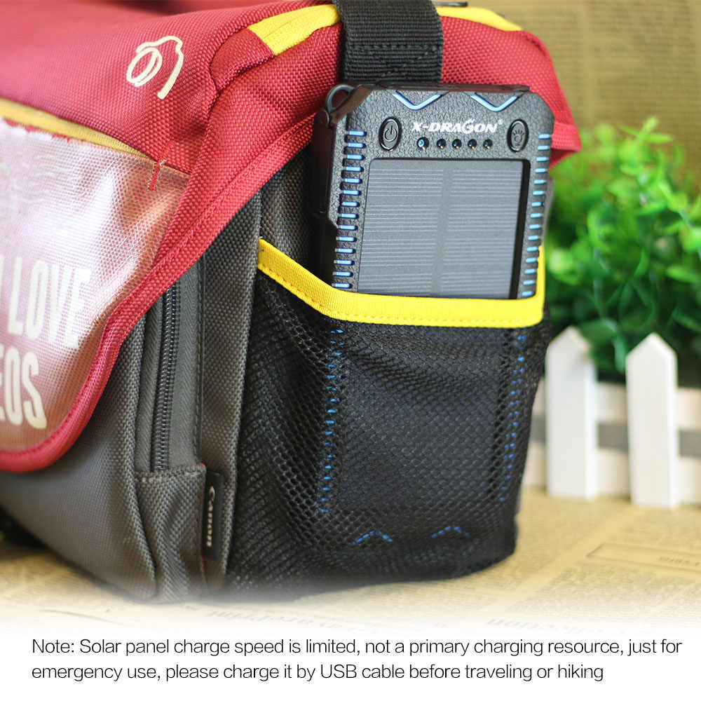 X-DRAGON ポータブルソーラー電話充電器 15000 10000mah ソーラーパワーバンク充電 iphone LG HTC Huawei 社 Xiaomi など。