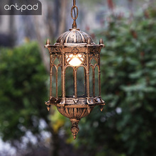 Artpad Nordic Vintage Courtyard Waterproof Light Outdoor Metal Hanging Pendant Light Balcony Garden Simple Lighting Fixture outdoor light waterproof outdoor penadant light balcony corridor pendant lamp vintage garden courtyard pavilion wall lamps
