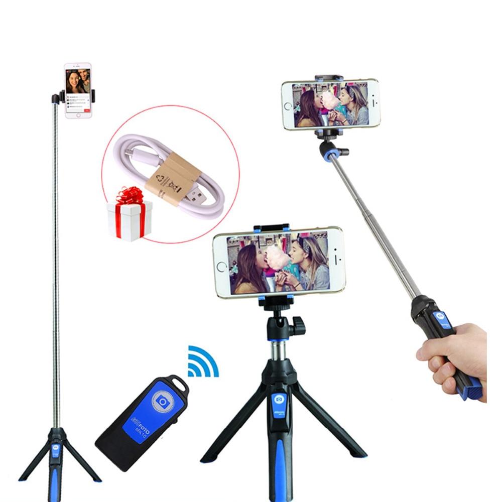 Benro Mefoto MK10 Bluetooth Selfie Stick Tripod Monopod 3 in 1 Self-portrait for iPhone Huawei Samsung Gopro 7 6 5