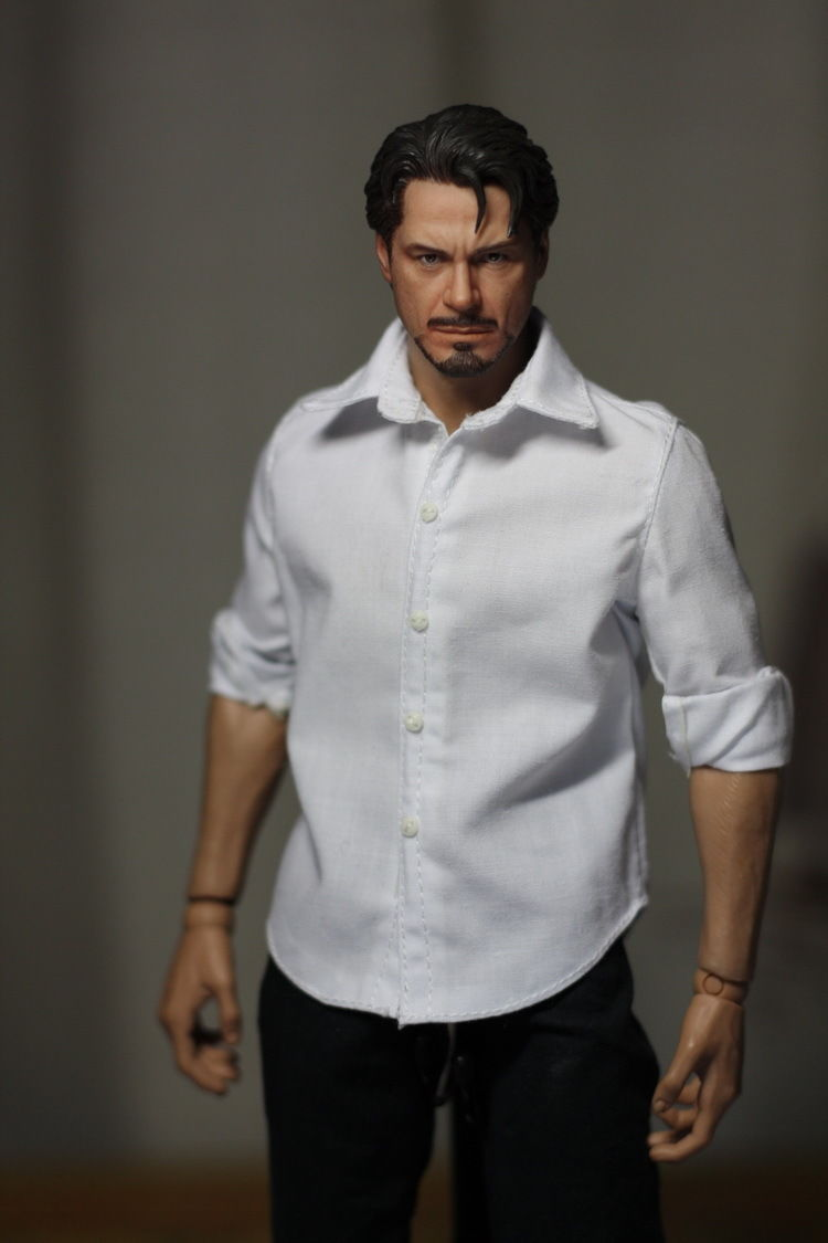 Common Practical 1 6 Scale Male Clothing White Casual Shirts Model Toys For 12 Action