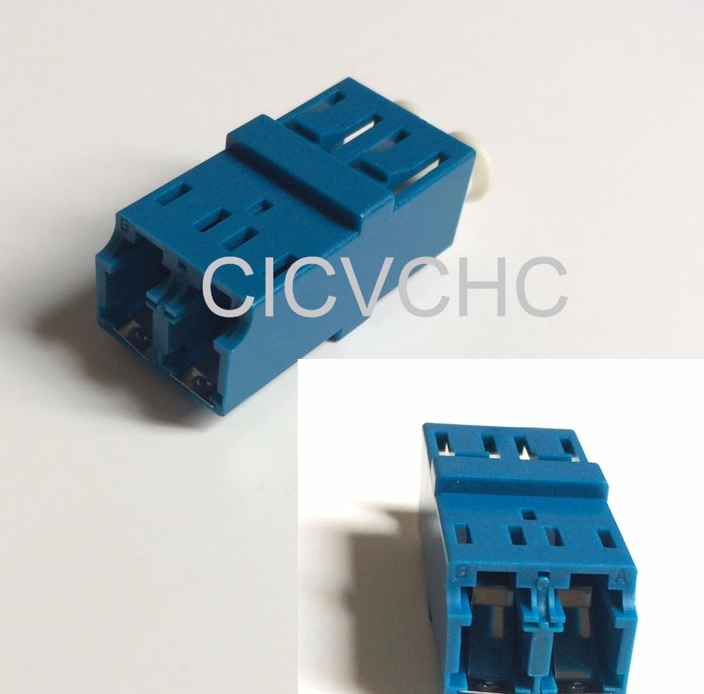 20 stks LC-Duplex-Anti Laser-met korte flens-blauw / optische vezeladapter