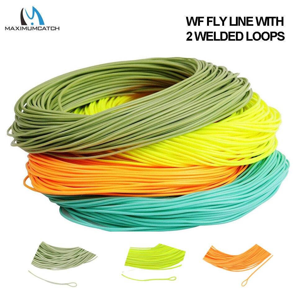 Maximumcatch 1/2/3/4/5/6/7/8wt Gewicht Vorwärts Fliegen Linie 100FT Schwimm Fly Fishing Line Mit Geschweißten Loop Multi Farbe