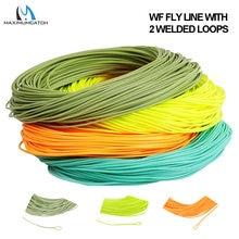 Maximumcatch linha voadora, peso maior na frente, 1/2/3/4/5/6/7/8wt linha de pesca voadora flutuante de 100ft com laço soldado multi cores