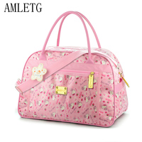 AMLETG Cute Hello Kitty Cat Travel Bag Ladies Girls Cartoon Sports Bag Large Capacity Handbag Waterproof Oxford Cloth Bags
