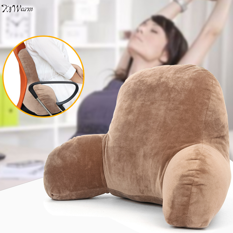 Lounger Lumbar Pillow Back Support Office Chair Backrest Bed Reading living Room Wedge T ...