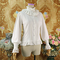 a4e08cb85 Victoriano gothic lolita camisa dulce cosplay lolita soporte de encaje  bordado manga linterna loli camisa renacimiento
