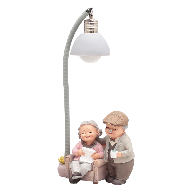 Creative Old Couple Dolls Ornaments Resin Crafts Love Wedding Desk Model Home Decoration Accessories Birthday Gifts