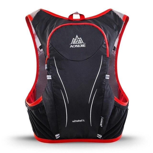 a3722c0c29 2018 AONIJIE 5L Running Bag Outdoor Sports Backpack Women Men Marathon Hydration  Vest Pack Water Bladder