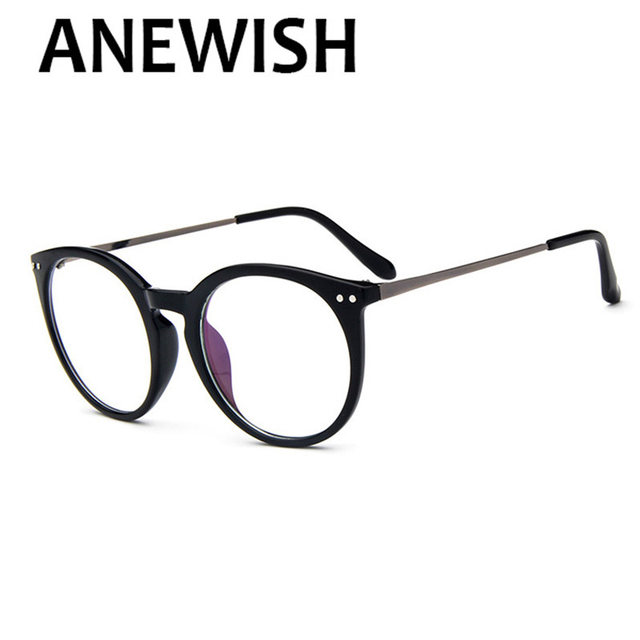 35f00a38c8f Elegant ANEWISH 2017 Fashion Vintage Big Round Glasses Frame Women Men  Unisex Eyeglasses Eyewear Eyeglasses Frames