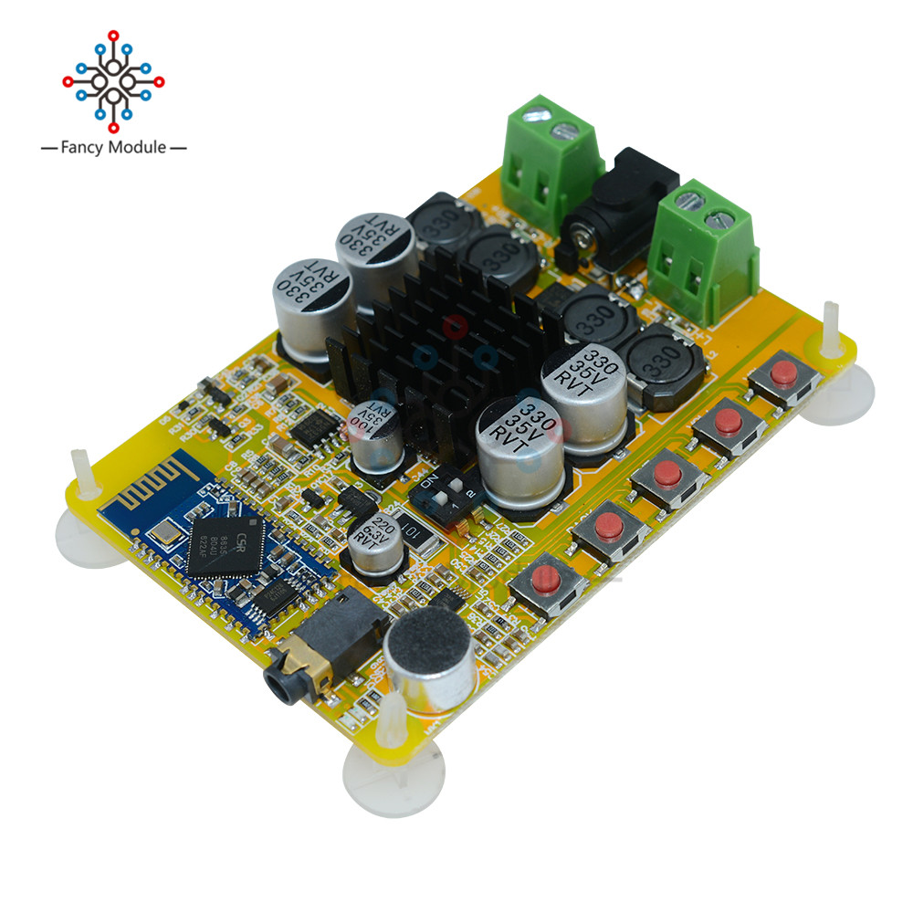 TDA7492 2x50 w Amplificatore Board Modulo Senza Fili di Bluetooth 4.0 Stereo Dual-Canali Con Microfono AUX 10- 25 v DC Al di Là TDA7492P