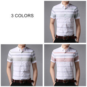 Image 4 - COODRONY Korte Mouw Mannen 2019 Summer Cool Casual Heren Shirts Streetwear Mode Gestreepte Camisa Masculina Plus Size S96036