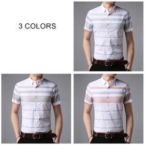 Image 4 - COODRONY kısa kollu gömlek erkekler 2019 yaz serin Casual erkek gömlek Streetwear moda çizgili Camisa Masculina artı boyutu S96036